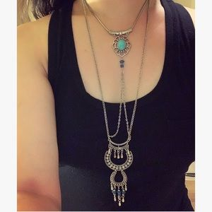 Southwestern Inspired Turquoise Layering Necklace